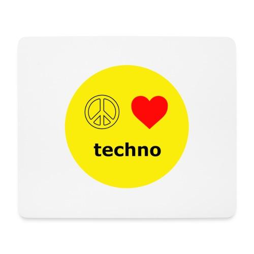 paz amor techno - Alfombrilla de ratón (horizontal)