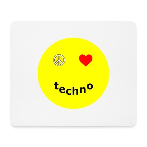 camiseta paz amor techno - Alfombrilla de ratón (horizontal)