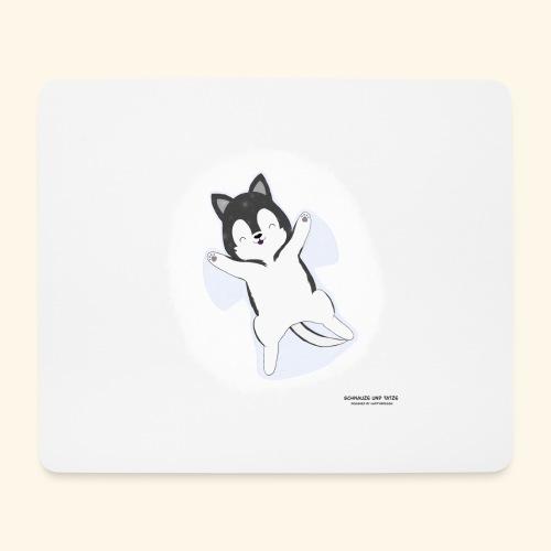 Husky Dog at snow - Mousepad (Querformat)