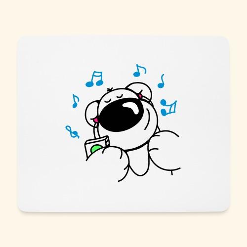 Der Bär hört Musik - Mousepad (Querformat)