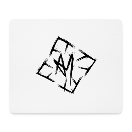 Across Yourself - Logo black transparent - Mouse Pad (horizontal)