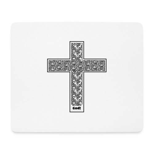 Jesus cross. I'm no longer a slave to fear. - Mouse Pad (horizontal)