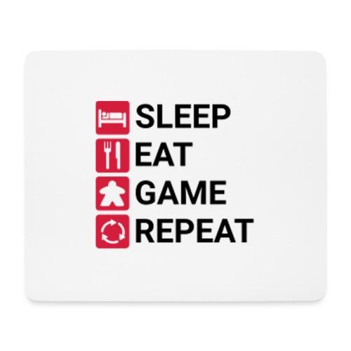 SLEEP, EAT, GAME, REPEAT - Musematte (liggende format)