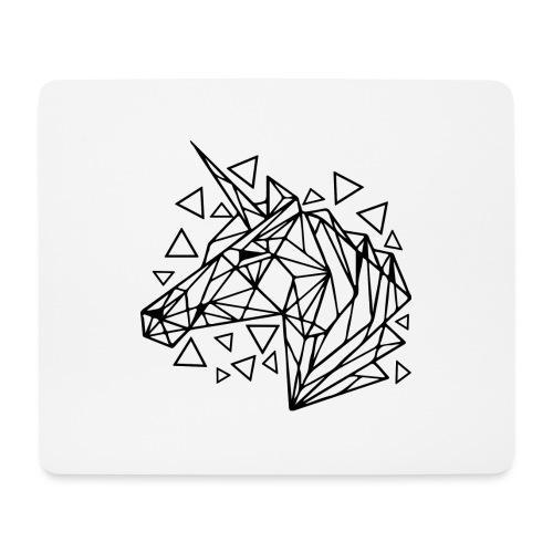 unicornio minimalista - Alfombrilla de ratón (horizontal)