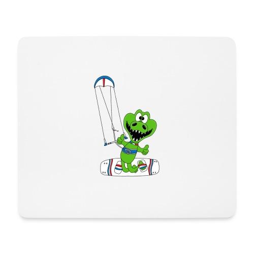 Lustiges Krokodil - Kite - Kiter - Kitesurfer - Mousepad (Querformat)