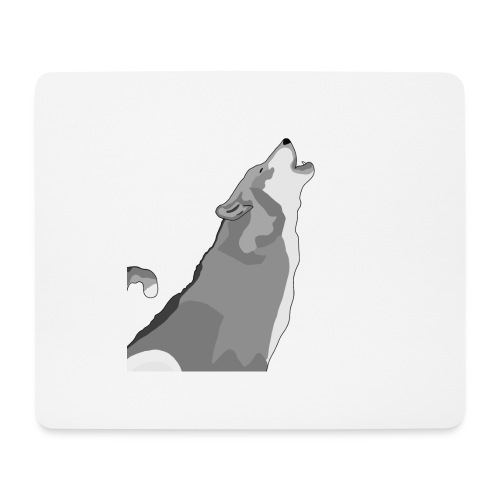 Wolf heulend - Mousepad (Querformat)