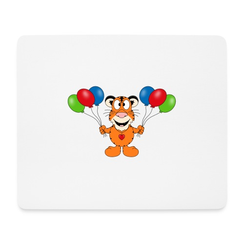 Tiger - Luftballons - Geburtstag - Party - Tier - Mousepad (Querformat)
