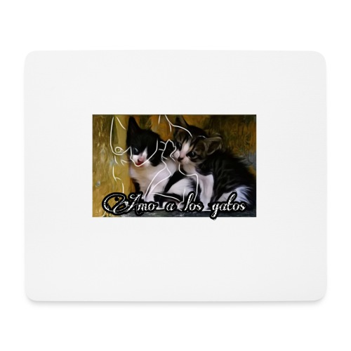 Amor por los gatos - Alfombrilla de ratón (horizontal)