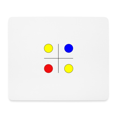 Arte mondrian inspiración colores - Alfombrilla de ratón (horizontal)