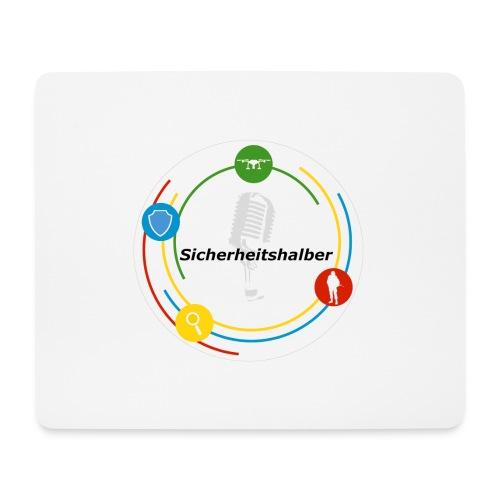 Sicherheitshalber Logo - Mousepad (Querformat)
