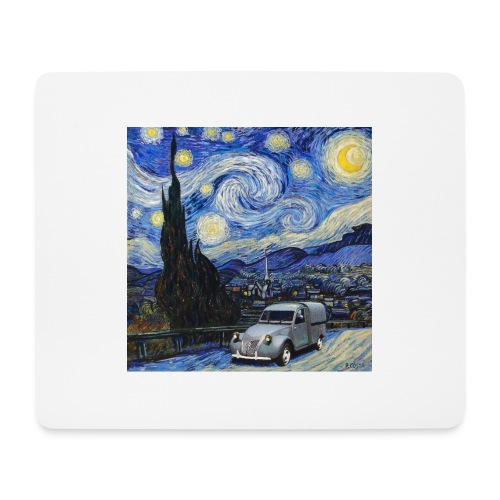 Notte stellata Van Gogh Citroen 2cv furgonette - Tappetino per mouse (orizzontale)