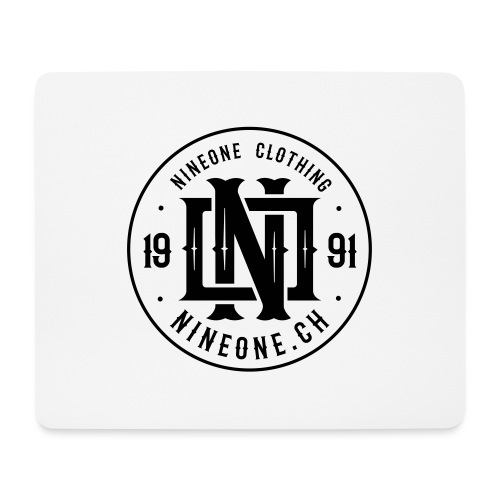 Nineone Monogram NO 03 black - Mousepad (Querformat)