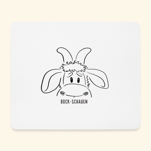 Schafbock: Bock schauen - schwarz - Mousepad (Querformat)