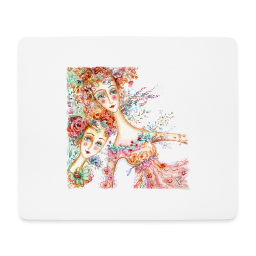 watercolor donnine 1200px - Mouse Pad (horizontal)