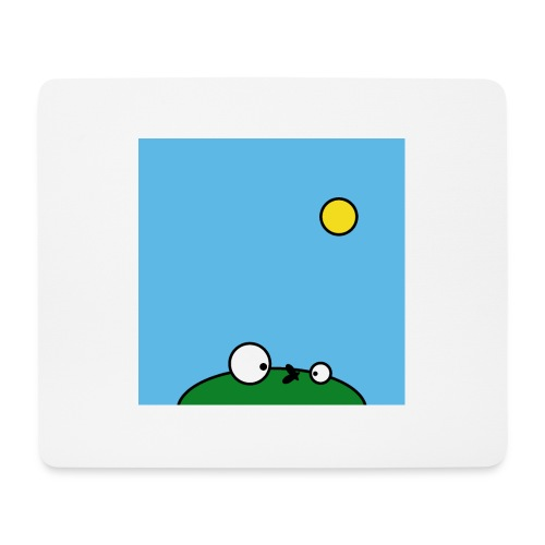Hungry Frog - suicide fly - Tapis de souris (format paysage)