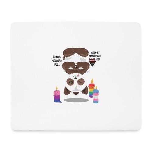 Panda Love - Mousepad (bredformat)