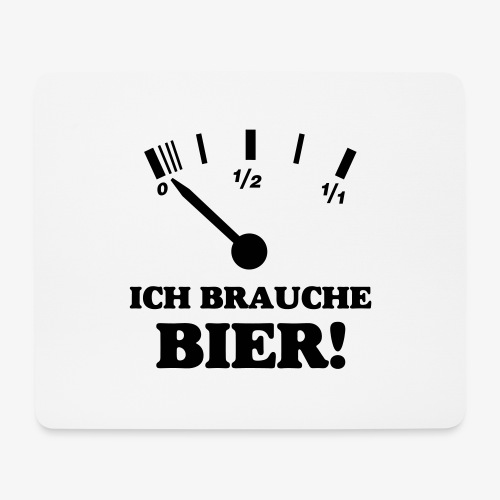 Bier Tankanzeige - Mousepad (Querformat)