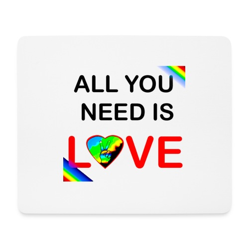 all you need is peace and love - Tapis de souris (format paysage)