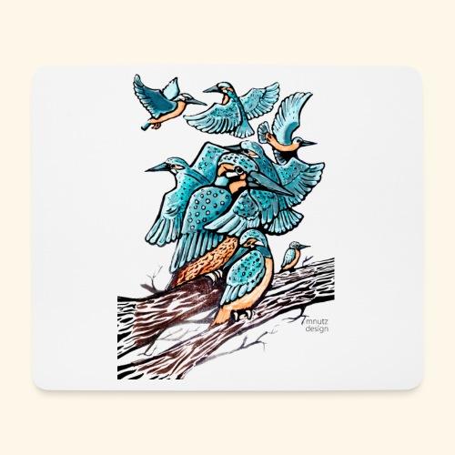 Eisvogel Rudel - Mousepad (Querformat)