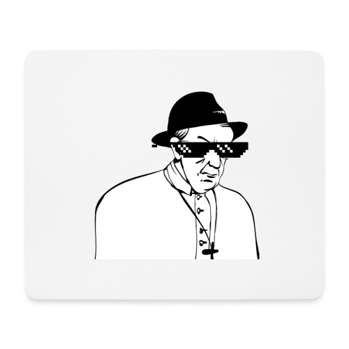 pope slaps woman meme - Tappetino per mouse (orizzontale)