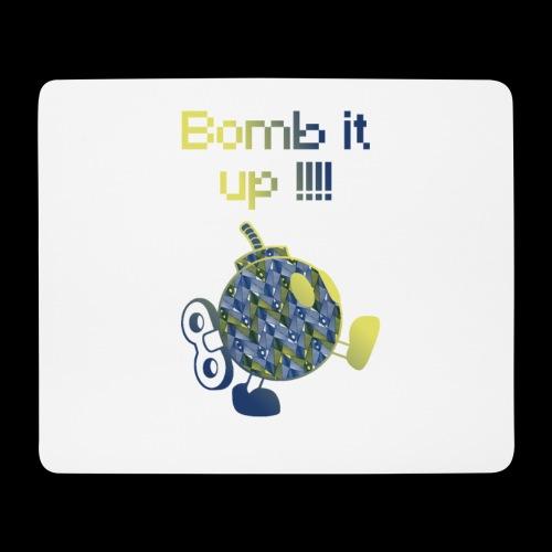 Bomb It Up : Blue Power !!! - Tapis de souris (format paysage)