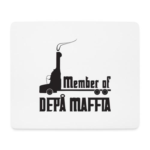 Depå Maffia svart tryck - Musmatta (liggande format)