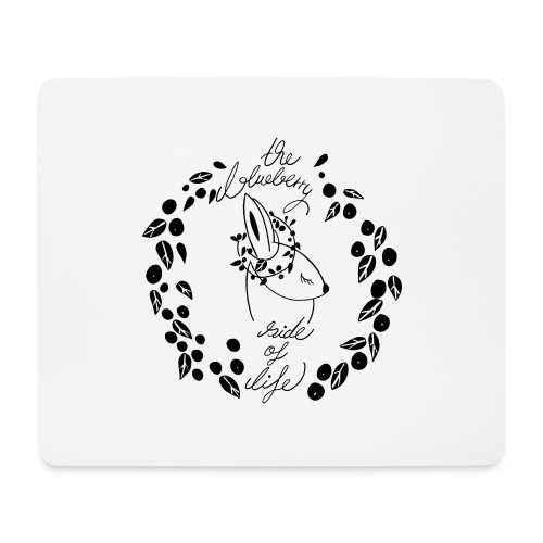 The blueberry side of life bunny - Mousepad (Querformat)