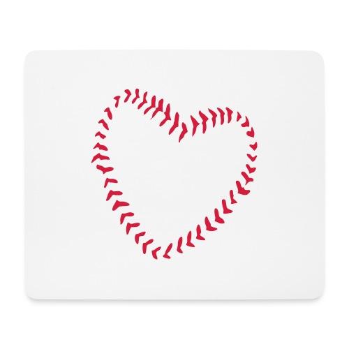 2581172 1029128891 Baseball Heart Of Seams - Mouse Pad (horizontal)