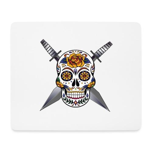 Cross skull swords - Tapis de souris (format paysage)