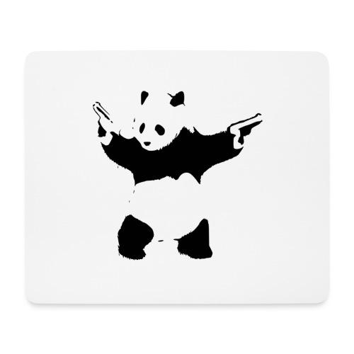 oso panda pistolas - Alfombrilla de ratón (horizontal)