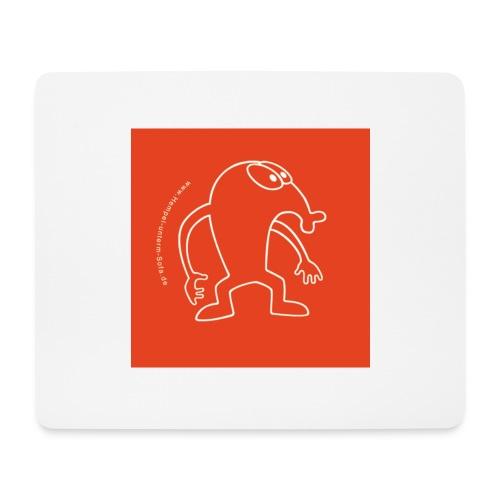 button vektor rot - Mousepad (Querformat)