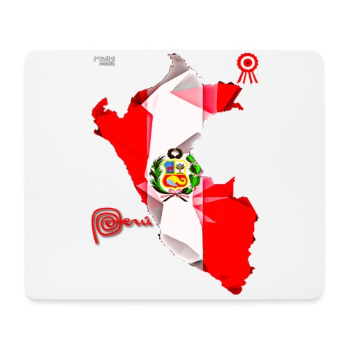 Mapa del Peru, Bandera und Escarapela - Mousepad (Querformat)