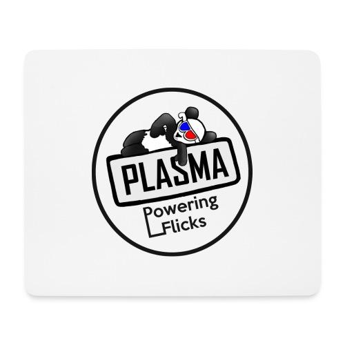 Plasma Logga Svart - Musmatta (liggande format)