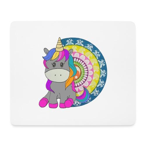 Unicorno Mandala - Tappetino per mouse (orizzontale)