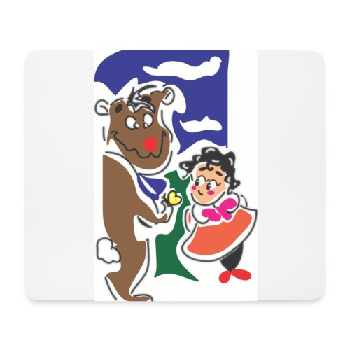 bambina jpg - Tappetino per mouse (orizzontale)