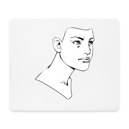 Girl Face - Tapis de souris (format paysage)