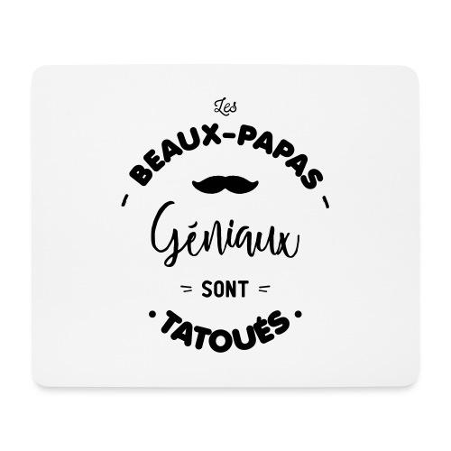 Beau papa tatoué - Tapis de souris (format paysage)
