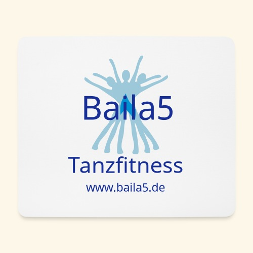 Baila5 Tanzfitness gelb - Mousepad (Querformat)