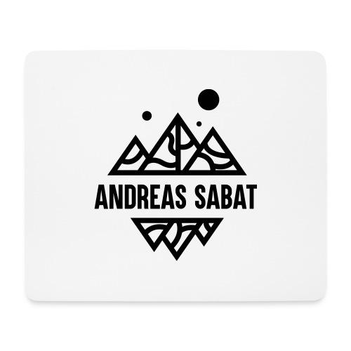 sabat logo black - Mousepad (bredformat)