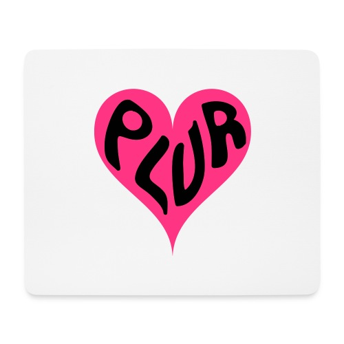 PLUR - Peace Love Unity and Respect love heart - Mouse Pad (horizontal)