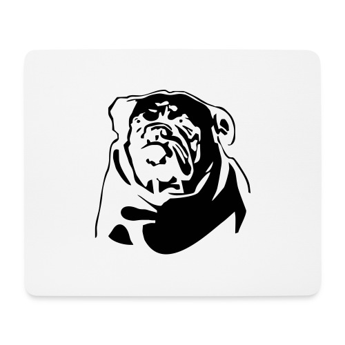English Bulldog - negative - Hiirimatto (vaakamalli)