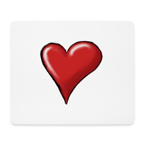 Love (coeur) - Tapis de souris (format paysage)
