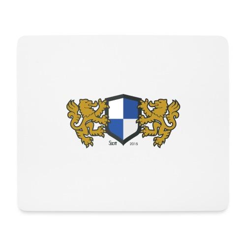 loewen wappen blau weiss - Mousepad (Querformat)