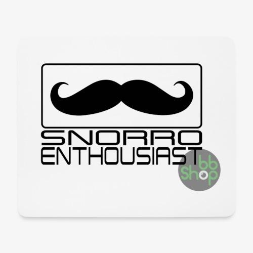 Snorro enthusiastic (black) - Mouse Pad (horizontal)