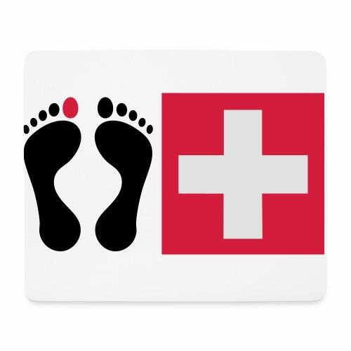 Barfussschweiz - Swiss-Collection - Mousepad (Querformat)