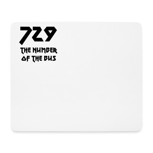 729 grande nero - Tappetino per mouse (orizzontale)