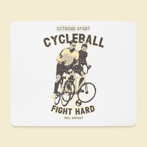 Radball | Fight Hard - Mousepad (Querformat)