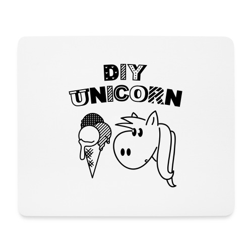 DIY Unicorn Einhorn - Mousepad (Querformat)