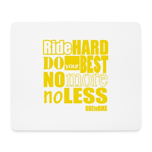 ridehard yellow - Mouse Pad (horizontal)