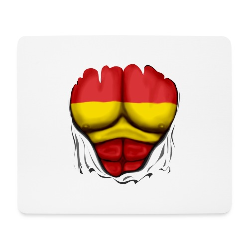 España Flag Ripped Muscles six pack chest t-shirt - Mouse Pad (horizontal)